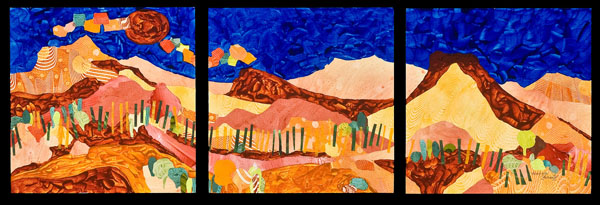 Desert Hills, mixed media art by Deanna Thibault